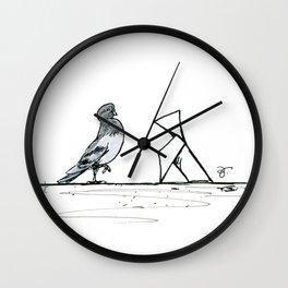 A Few Parisians: Beaubourg by David Cessac Wall Clock