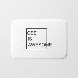 CSS Is Awesome Bath Mat