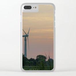 ad solis occasum ventus turbines ab Horumersiel Clear iPhone Case