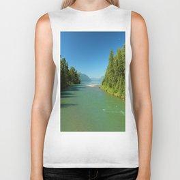 Green Waters Of McDonald River And Lake Biker Tank