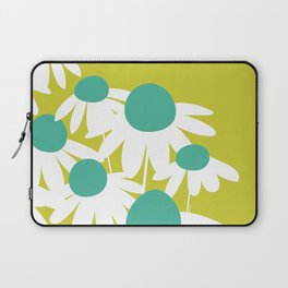 Flowers on Green by Friztin Laptop Sleeve