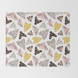 Moth's Diverse Beauty Pattern Throw Blanket