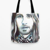 jared leto Tote Bags featuring Jared Leto by ShayMacMorran