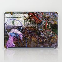 bicycles iPad Cases featuring Bicycles by Marco Sassone