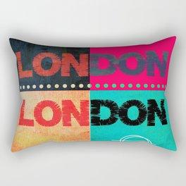 London, colourful design, England, cities, London town Rectangular Pillow