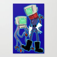 computer Canvas Prints featuring Computer by c2ndy2c1d