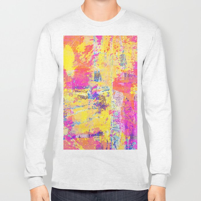 Always Look On The Bright Side - Abstract, textured painting Long Sleeve T-shirt