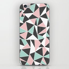 AbLines with Blush Mint Blocks iPhone Skin