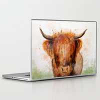 cow Laptop & iPad Skins featuring Cow by emegi