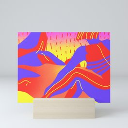 Sunset in the desert of the real Mini Art Print
