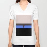 hologram V-neck T-shirts featuring The Doctor - Minimalist Star Trek Voyager VOY - startrek - Trektangle Trektangles - EMH by Trektangles