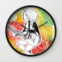 Coloured Music Wall Clock