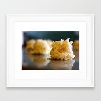 macaroon Framed Art Prints featuring Macaroon by sarah mah