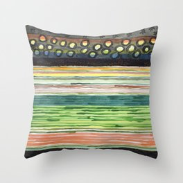 The Stack Draft Throw Pillow