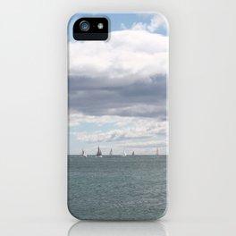 Sailboats on the Sea iPhone Case