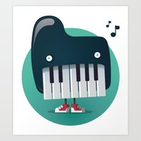 Piano Monster Art Print