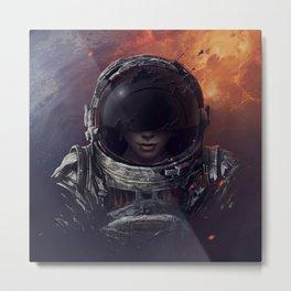 Space Pilot Metal Print