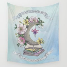 Freedom, Books, Flowers and The Moon Wall Tapestry