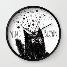 MIND BLOWN. Wall Clock