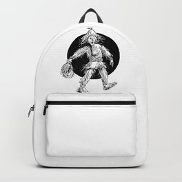 Scarecrow Man Drawing Backpack