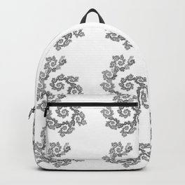 Dancing flowers in black Backpack
