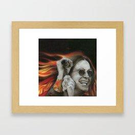 'Ozzy's Fire' Framed Art Print