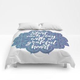 Gratitude Mandala Comforters