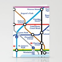 london map Stationery Cards featuring London Map by ialbert