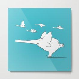 I'm like a swan Metal Print