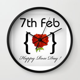 Happy Rose day february 7th- valentine month gifts for lovers Wall Clock