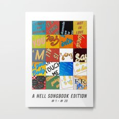 A Hell-Songbook-Edition Complete # 1 - 20 Metal Print