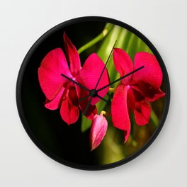 Red For Love Wall Clock