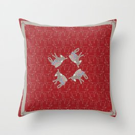 © Litte Burro Wild West Red Throw Pillow
