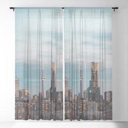 L.A. city aesthetic Sheer Curtain