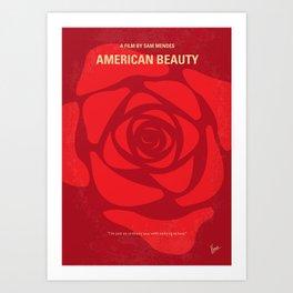 No313 My American Beauty mmp Art Print