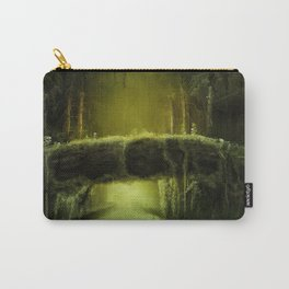 Green Mossy Forest with Bridge Fantasy Photo Carry-All Pouch