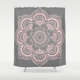 Mandala Flower Gray & Ballet Pink Shower Curtain