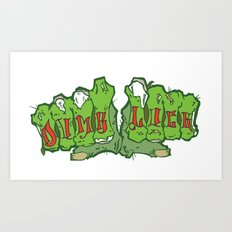 Zombie Fists Art Print