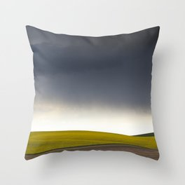 Rain's Coming Throw Pillow