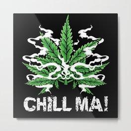 Hemp Leaf Lover Gift Idea Design Motif Metal Print