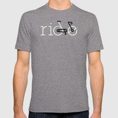 ride 16 Mens Fitted Tee Tri-Grey MEDIUM