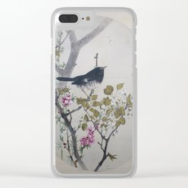 Seitei - Album of Flowers and Birds (1906): Japanese Thrush with Flowering Quince and Wild Cherry Clear iPhone Case