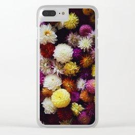 dahlias #society6 #decor #buyart Clear iPhone Case