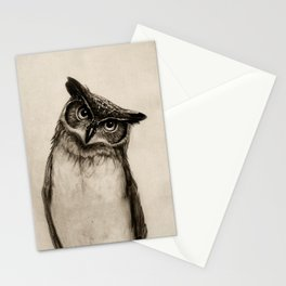 Owl Sketch Stationery Cards