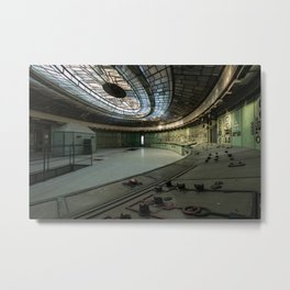 Abandoned Art déco control room Metal Print