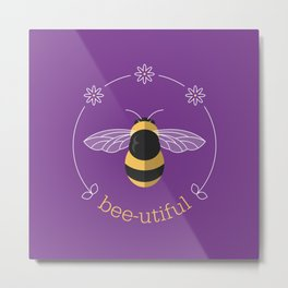 Bee-utiful Metal Print