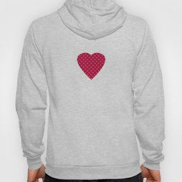 Strawberry Pink Love Hearts & Love Birds Hoody