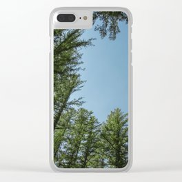 Blue Sky Above Clear iPhone Case