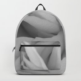 black and white close up peony Backpack