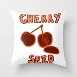 Cherry Seed Throw Pillow